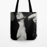 striped Tote Bags featuring Striped ~ by twistedreflection