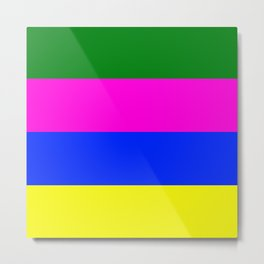 Bright Easter Colors, Find the Eggs Metal Print