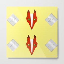 Fox of Prosperity Metal Print
