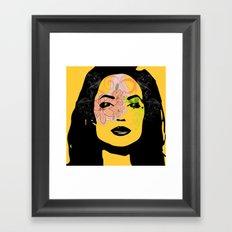 mysterious woman 1 Framed Art Print