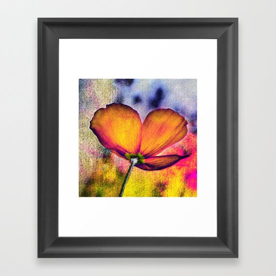 Poppies(autumn). Framed Art Print