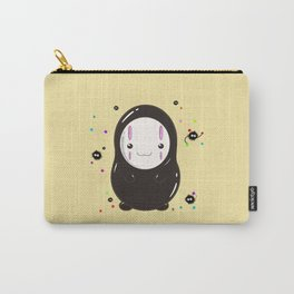 Spirited Away No Face Kawaii With Soot Sprites Carry-All Pouch