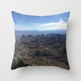 View from South Rim, Big Bend National Park Throw Pillow