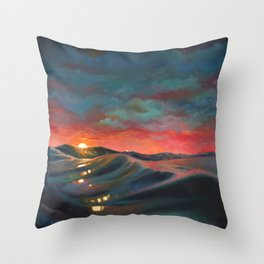 Before The Night Storm Throw Pillow