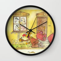 witch Wall Clocks featuring Witch by Pepan