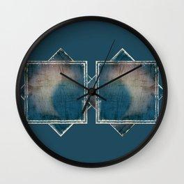 BLUE MOON SCRATCH PATTERN #1 Wall Clock