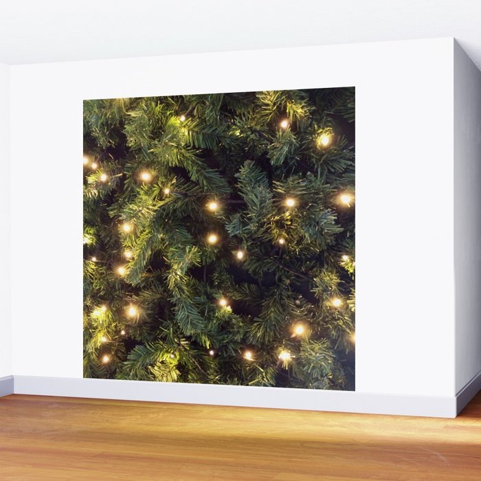 Christmas tree relaxing Light Wall Mural by lifeisbeautiful Society6