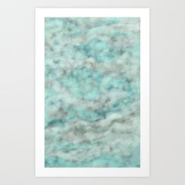 Marble clouds Art Print