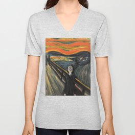 The Silence - When The Doctor Meets Munch Unisex V-Neck