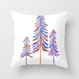 Pine Trees – Vintage Palette Throw Pillow