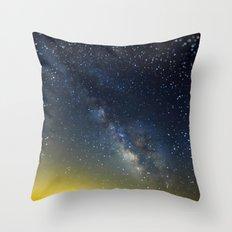 Milky Way bokeh Throw Pillow
