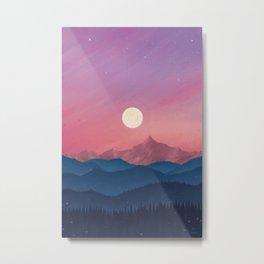 Moon at Sunset Metal Print