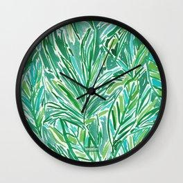 FUNKY JUNGLE Green Palm Pattern Wall Clock