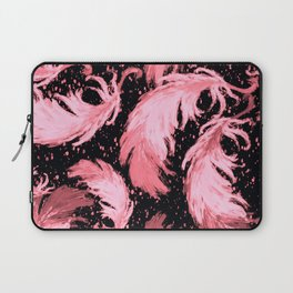 Feather Fest — Pink Laptop Sleeve