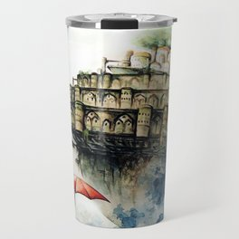 """The castle in the sky"" Travel Mug"