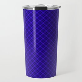 Diagonal plaid 6 Travel Mug