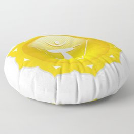 Solar Plexus Symbol Floor Pillow