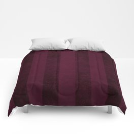 Red Wine Stripes Comforters