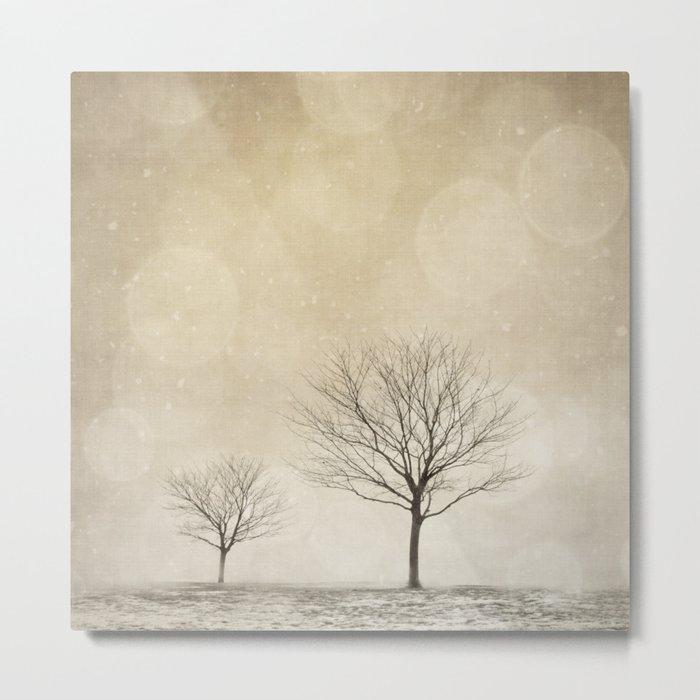 Snow Bokeh Wonderland  Metal Print