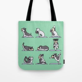 Miniature Schnauzer yoga Tote Bag