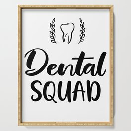 Dental squad for dental assistant and dentist Serving Tray