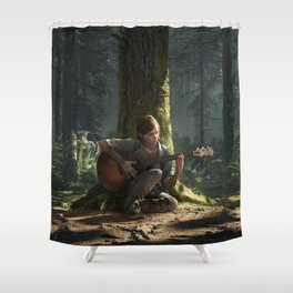 Ellie the last of us Shower Curtain