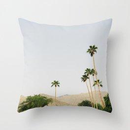 sunrise in the palm desert Throw Pillow