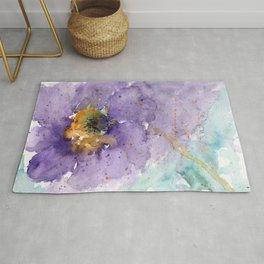 Purple Poppy Rug