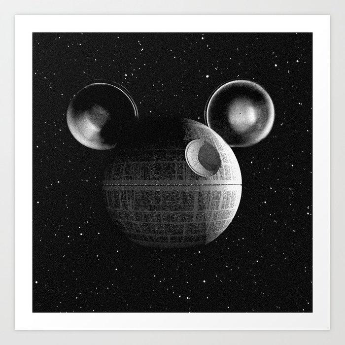 That's no moon... Disney Death Star Art Print