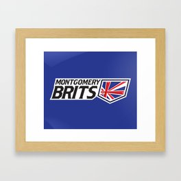 Montgomery Brits Full Logo Framed Art Print