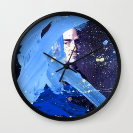 Blue Explosion Wall Clock