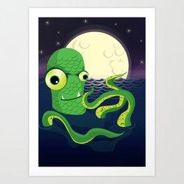 A Late Night Dip Art Print