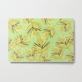 Palm Leaf - green light background Metal Print