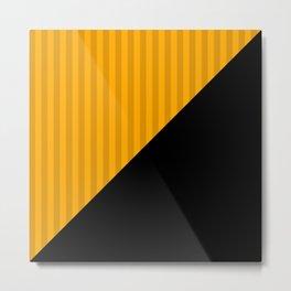Black and yellow Metal Print