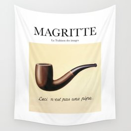 Magritte - La Trahison des images Wall Tapestry