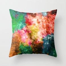 Rainbow Galaxy Throw Pillow
