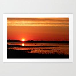 Block Island New Harbor Sunrise Art Print