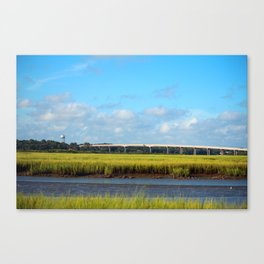 Seaside To Mainland Bridge Canvas Print