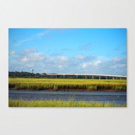 Seaside To Mainland Bridge Canvas Print
