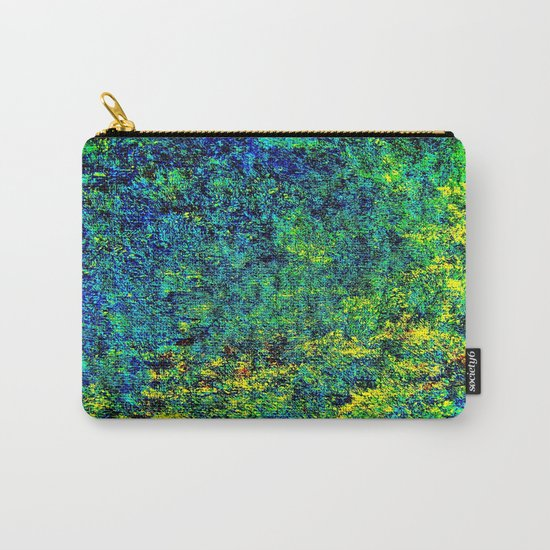 Abstract Flowers yellow and green Carry-All Pouch