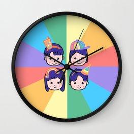 Pride in Cuteness Wall Clock
