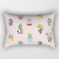 Funny cacti illustration Rectangular Pillow