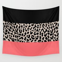 the national Wall Tapestries featuring Leopard National Flag XV by M Studio