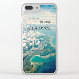 discover. Clear iPhone Case