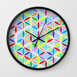 Flower of Life Large Pattern – Multicoloured Wall Clock