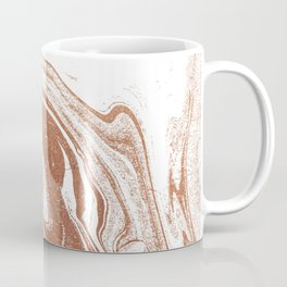 Marble copper metallic suminagashi spilled ink japanese marbling abstract ocean swirl Coffee Mug