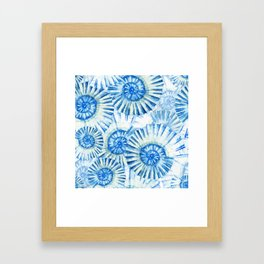 Sea Life Pattern 01 Framed Art Print