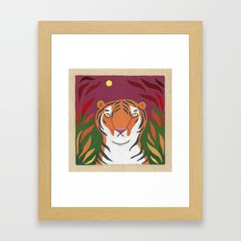 Fire Tiger Framed Art Print