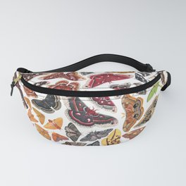 Saturniid Moths of North America Pattern Fanny Pack