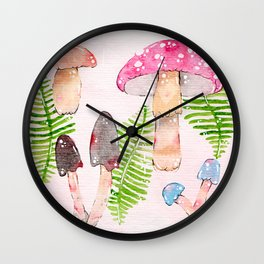 Botanical Watercolor Illustration by Sophi Art Wall Clock